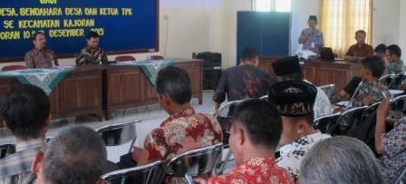 Perangkat Desa se-Kecamatan Kajoran Ikuti Pelatihan Pengelolaan Keuangan Desa