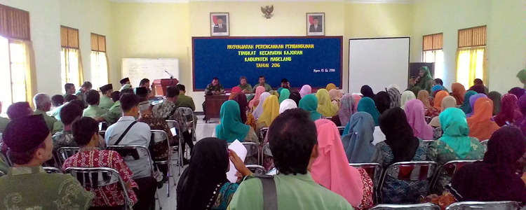 Delegasi dari 29 Desa Ikuti Musrenbang Kecamatan Kajoran