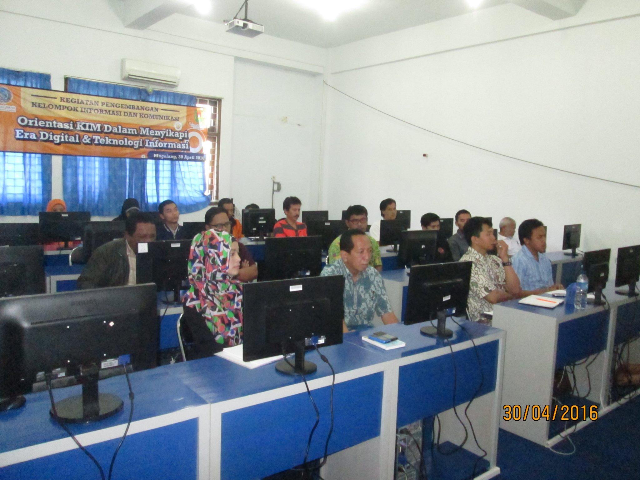 Pengurus KIM Kabupaten Magelang Ikuti Pelatihan Pemanfaatan Internet