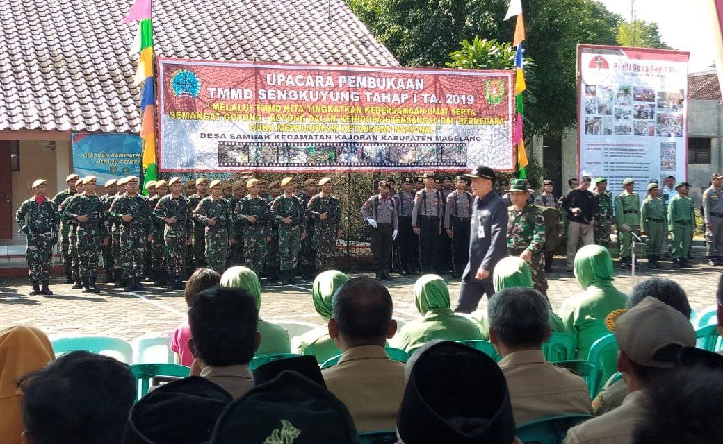 Bupati Magelang Resmikan TMMD Tahap I di Desa Sambak